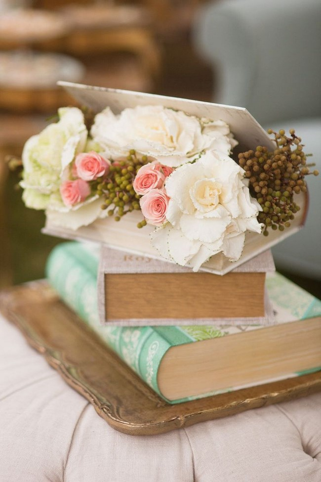 decoracion con un libro